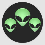 Alien Trio Black Sticker